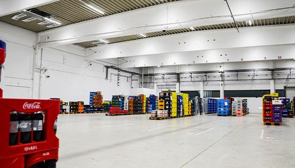 Neue LED Hallen-Beleuchtung beim Getränkehändler Pachmayr