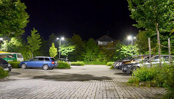LED Beleuchtung für Parkplatz